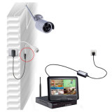 sistema de gravação sem fio CCTV da segurança da câmera do IP de 4CH WiFi para o Built-in da segurança Home tela do LCD de 10 polegadas
