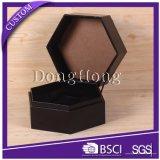 Caja blanca de Wholsale de lujo de encargo del hexágono con el diseño floral