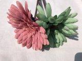 Margherita falsa verde di seta dei fiori artificiali per la decorazione domestica di cerimonia nuziale