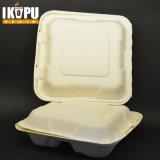 Устранимый Clamshell контейнера еды багассы бумажной пульпы