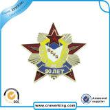 학교를 위한 특별한 로고 별 모양 금속 접어젖힌 옷깃 Pin