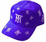 Surtidor azul del sombrero del casquillo del deporte de la pana