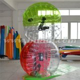 狂気のスポーツ! ! ! 熱い販売半分カラーTPU膨脹可能な人間の大きさで分類されたサッカーの泡球、気が狂った球D5018