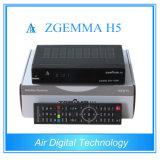 Equipamento de transmissão Real H. 265 Decodificador de TV DVB S2 DVB T2 DVB C Zgemma H5
