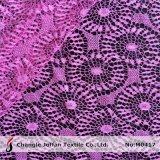 Пурпуровая геометрическая сетчатая ткань шнурка (M0417)