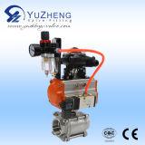 robinet à tournant sphérique 2PC avec l'actionneur pneumatique avec le fil de FM et