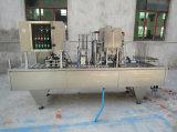Copa Rotary pulverizadora automática Yogourt bandeja sellador de llenado y sellado de la máquina