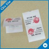 Étiquettes de soin de lavage d'impression d'écran pour le tissu de vêtement