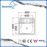 Topmountのステンレス鋼台所(ACS6054)のための単一ボールの流し