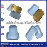 Lámina de aluminio desechables ecológicas Contenedor de alimentos de la tapa de papel
