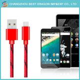 Красный нейлоновой оплеткой USB 2.0 3.0 Тип C быстрая зарядка кабель передачи данных для Android и iPhone