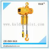 Alci gru Chain elettrica di singola velocità di 3 tonnellate con l'amo