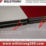comitato composito di alluminio di 6mm per la facciata del metallo