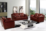 Leather Sofa Furnitureのための現代Genuine Leather Sofa