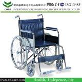 يدويّة فولاذ كرسيّ ذو عجلات مع يستعصي مقادة