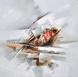 Abstrakte handgemachte Segeltuch-Kunst der Ölgemälde-100% für Wände
