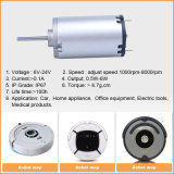 12V Brush Mini Electric Brushing gelijkstroom Motor voor Kantoorbenodigdheden
