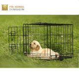Cassa pieghevole del cane della rete metallica con due portelli