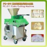 Radis cubique d'acier inoxydable, navets, machine de découpage en tranches de raccords en caoutchouc FC-311
