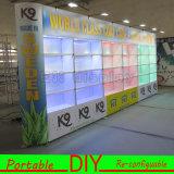 Изготовленный на заказ портативная модульная индикация выставки POS пола с Lightbox