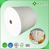 Ein seitliches PET überzogenes Papier für das Schnellimbiss-Verpacken