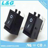 El STB Caja de potencia de E/S 2 posiciones Pulsador Mini Micro interruptor basculante 6A250VAC
