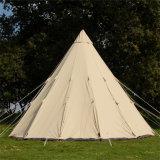 Segeltuchtipi-Zeltkampierendes Sahara-Inder-Zelt des Glamping Luxus-4m 5m 6m