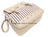 최신 판매 여자 줄무늬 색깔 - 조합 책가방 (WZX20417)