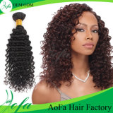 Niedrigerer Preis-ist heißes verkaufenjungfrau-Haar wellenförmiges Menschenhaar sperrig