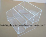 3 Ties Clear Acrylic Counter Book Display Shelf, Plexi Display Stands