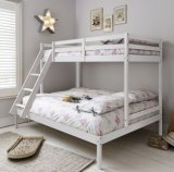 Деревянная мебель белого цвета цельной древесины Двухъярусная кровать