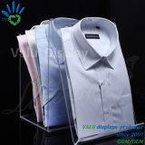 Étalage acrylique personnalisé de T-shirt pour le système de vêtement avec L forme