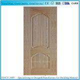 2+1 Placage en bois de frêne réel du panneau HDF porte de la peau du moule