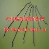 Prenda as extremidades das fibras de aço