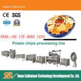 A Norma Ce pequenos chips de batata fresca tornando máquinas de corte