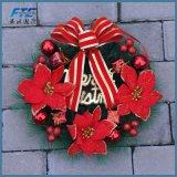 La guirlande de Noël d'ornement de Noël fleurit la guirlande