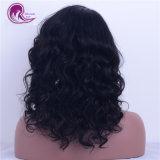 Commerce de gros durable vierge brésilien cheveux ondulés naturelles Full Lace Wig