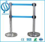 Il doppio allaccia la barriera Polished di controllo di folla dell'acciaio inossidabile