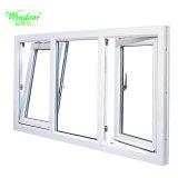PVC Weather-Resistant Inclinaison et tour fenêtre avec le verre trempé