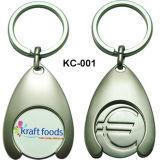 Zinco Keychain con il supporto della moneta per il regalo promozionale