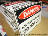 Coflute Coroplast Correx 물결 모양 플라스틱 표시 플라스틱 경고 표시 또는 금지 표시