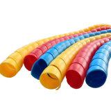 De PP flexível PE PA espiral plástica tampa protetora para tubo de aquecimento