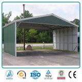 Garage portatile prefabbricato galvanizzato resistente del tubo del vento poco costoso di memoria d'acciaio dell'automobile