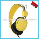 マイクロフォンおよび音量調節を用いる高品質のヘッドホーン
