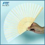 Gran ventilador de encargo de bambú de la mano de la boda de papel de Quanlity