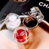 Boîte en anneau en acrylique pour épaules de bijoux Étuis transparents pour cadeau d'anneau Vente chaude