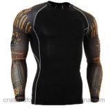 Usura Stretchable di sport degli uomini delle magliette felpate variopinte adatte dei manicotti del corpo