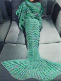 卸売によって編まれる大人および子供の羊毛の人魚のテール羊毛毛布の快適で柔らかい人魚毛布