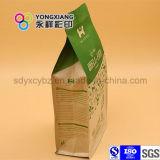 Ламинированной бумаги Quad нижней части сумки для упаковки ПЭТ Продовольственной