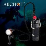 Archon resistente al agua a 200 metros de alto rendimiento 6500 lúmenes LED linterna con CE &RoHS